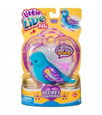 Птичка Little Live Pets Wishy Star голубая с фиолетовым клювом 28397/ast28390