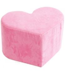 Детский пуфик Advesta Сердце велюровый нежного розового цвета...