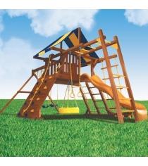 Детские площадки из дерева Американские игровые системы зарница и рукоход...