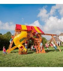 Детские площадки из дерева Американские игровые системы техасец 7...