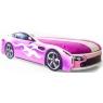 Кровать с матрасом Бельмарко Бондмобиль розовый...