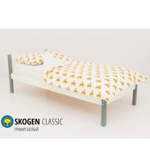 Детская кровать Бельмарко Skogen classic графит-белый
