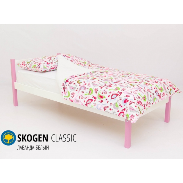 Детская кровать Бельмарко Svogen classic лаванда-белый