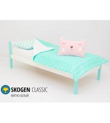 Детская кровать Бельмарко Skogen classic мятно-белый