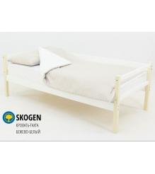 Детская кровать тахта Бельмарко Skogen бежево белый