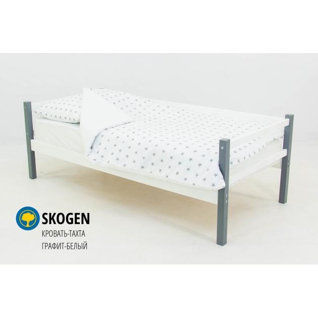 Детская кровать тахта Бельмарко Svogen графит белый