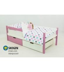 Детская кровать тахта Бельмарко Skogen лаванда белый