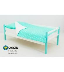 Детская кровать тахта Бельмарко Skogen мятно белый