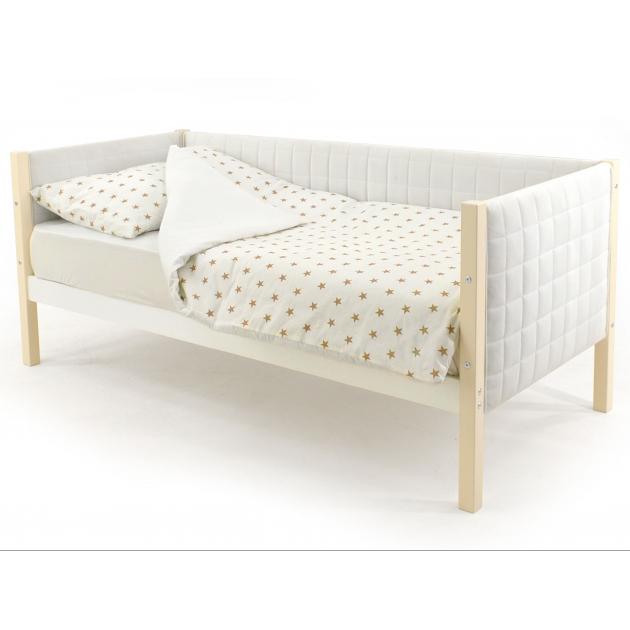 Детская кровать-тахта мягкая Бельмарко Svogen бежево-белый