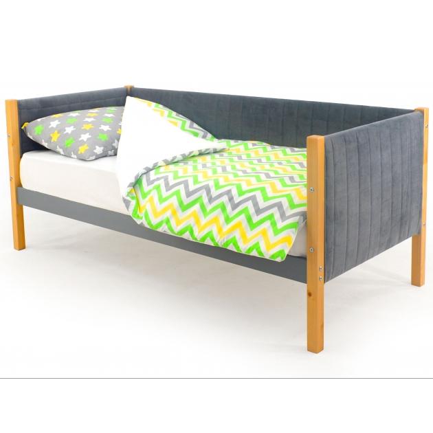 Детская кровать-тахта мягкая Бельмарко Svogen дерево-графит