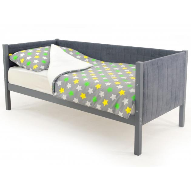 Детская кровать-тахта мягкая Бельмарко Svogen графит