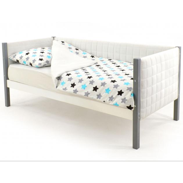 Детская кровать-тахта мягкая Бельмарко Svogen графит-белый