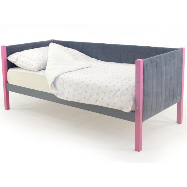 Детская кровать-тахта мягкая Бельмарко Svogen лаванда-графит