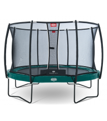 Каркасный батут Berg Elite + Regular + Safety Net T-series 380 см green