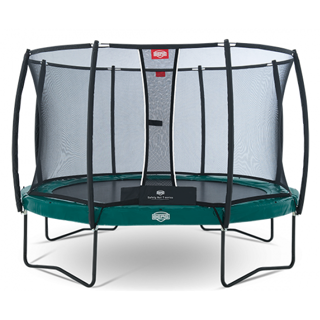 Каркасный батут Berg Elite + Regular + Safety Net T-series 380 см green 37.12.91.00