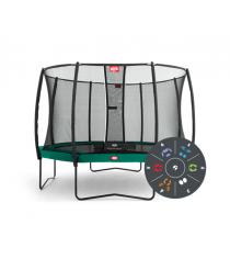 Батут Berg Regular Green Tattoo 430 с защитной сеткой Safety Net T series 430