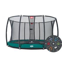 Батут Berg Elite InGround Green Tattoo 430 с защитной сеткой Safety Net T series 430 37.24.92.00