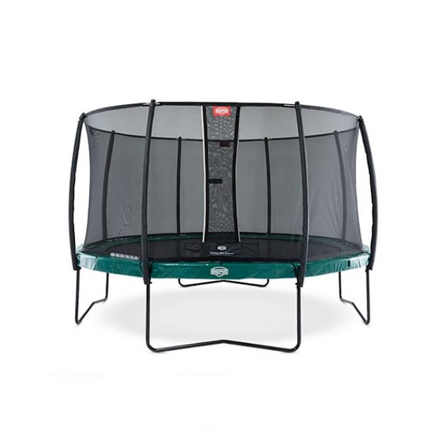 Батут Berg Elite Green с сеткой Deluxe 430 см