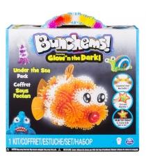 Конструктор-липучка Bunchems Glow'n The Dark 6028258 Подводный мир