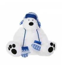 Мягкая игрушка Button Blue Мишка полярник в шапке 37 см 42 120374 2...