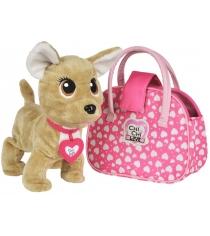 Мягкая игрушка Simba интерактивная Счастливчик с сумочкой Chi Chi Love 5893110