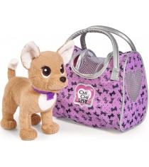 Мягкая игрушка Simba Chi Chi Love путешественница с сумкой переноской 5893124