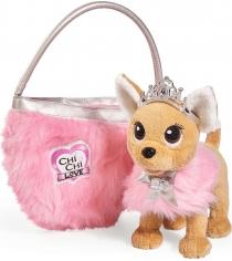 Мягкая игрушка Simba Chi Chi Love принцесса с пушистой сумкой 5893126
