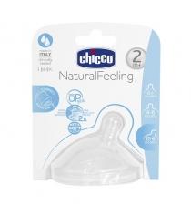 Соска Chicco силикон Natural Feeling средний поток 2м+