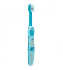 Зубная щётка Chicco детская с эргономичной ручкой 6мес+ голубая