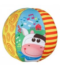 Развивающий мяч Chicco музыкальный с коровкой 5836