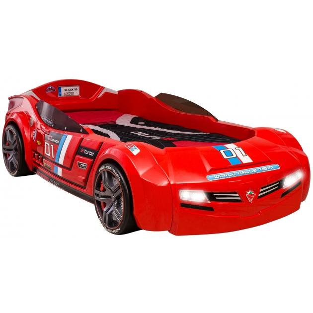 Кровать машина Cilek Carbeds Biturbo красная 20.02.1335.00