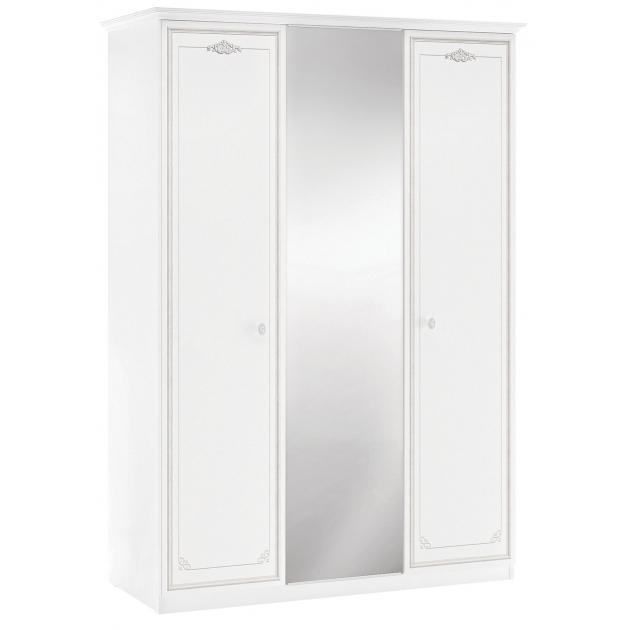 Трехдверный шкаф Cilek Selena Grey