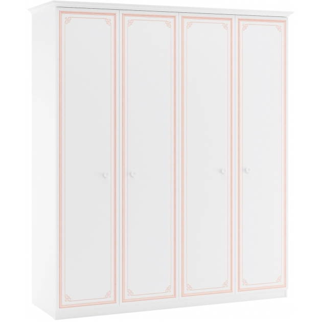 Шкаф четырехдверный Cilek Selena Pink