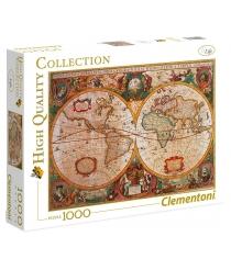 Пазл Clementoni HQ Древняя карта мира 1000 элементов 31229