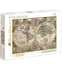Пазл Clementoni HQ Древняя карта мира 3000 33531