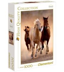Пазл Clementoni HQ Бегущие кони 1000 элементов 39168
