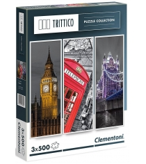 Пазл Clementoni Trittico Легенды Лондона 3х500 элементов 39306