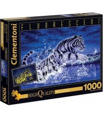 Пазл Clementoni Флуоресцентный Прыжок тигра 1000 элементов 39354