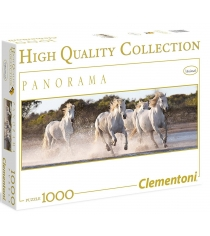 Пазл Clementoni Панорама Белые лошади 1000 элементов 39371