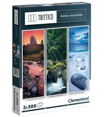 Пазл Clementoni Trittico Живая вода 3х500 элементов 39800