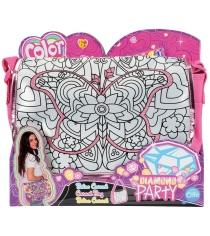 Детская сумка раскраска Color Me Mine Алмазный блеск и 5 маркеров 6372206
