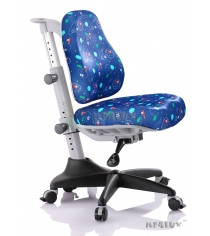 Детское кресло Comf-Pro Newton Y-818 синий с мячиками