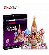 3D Пазл Cubic Fun Игрушка  Собор Василия Блаженного (Россия) C707h