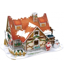 3D пазл Cubic Fun Рождественский домик 1 P647h с подсветкой