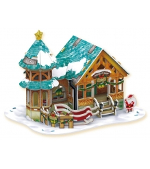 3D пазл Cubic Fun Рождественский домик 3 P649h с подсветкой...