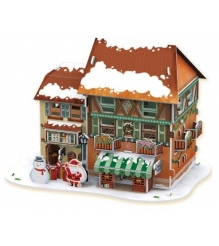 3D пазл Cubic Fun Рождественский домик 4 P650h с подсветкой...