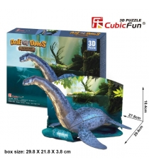 3D Пазл Cubic Fun Игрушка Эра Динозавров Плезиозавр P671h