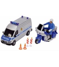 Полицейская машинка и мотоцикл Dickie 3314044
