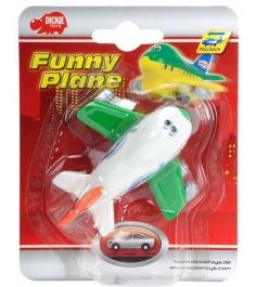 Веселый детский самолет Dickie инерционный белый с зеленым 3345475...