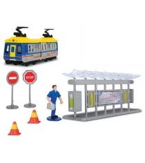 Игровой набор Трамвайная остановка Dickie синий 3315390